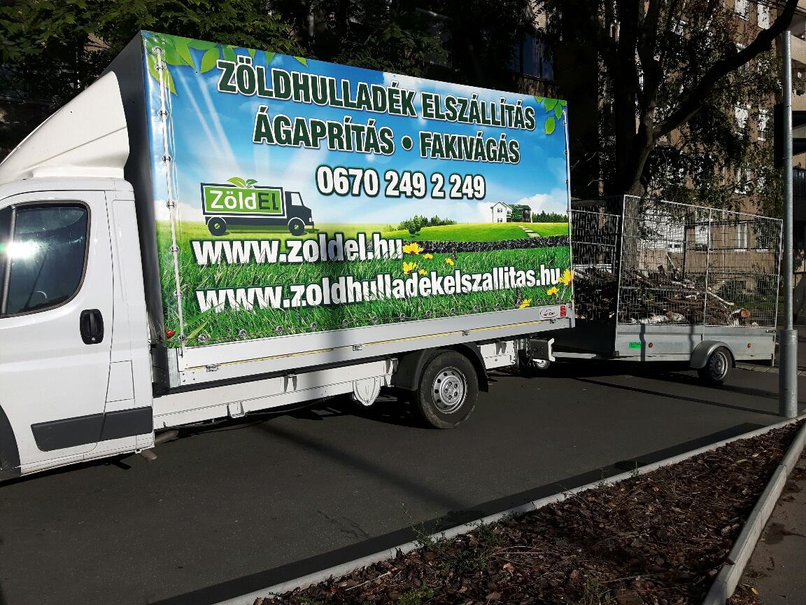 Zöldel zöldhulladék szállítás